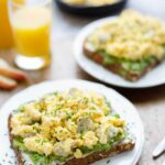 Breakfast Avocado Toast with Egg and Sausage - Two Healthy Kitchens