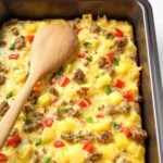 Breakfast Casserole With Eggs, Potatoes And Sausage – Recipe Egg Sausage Casserole