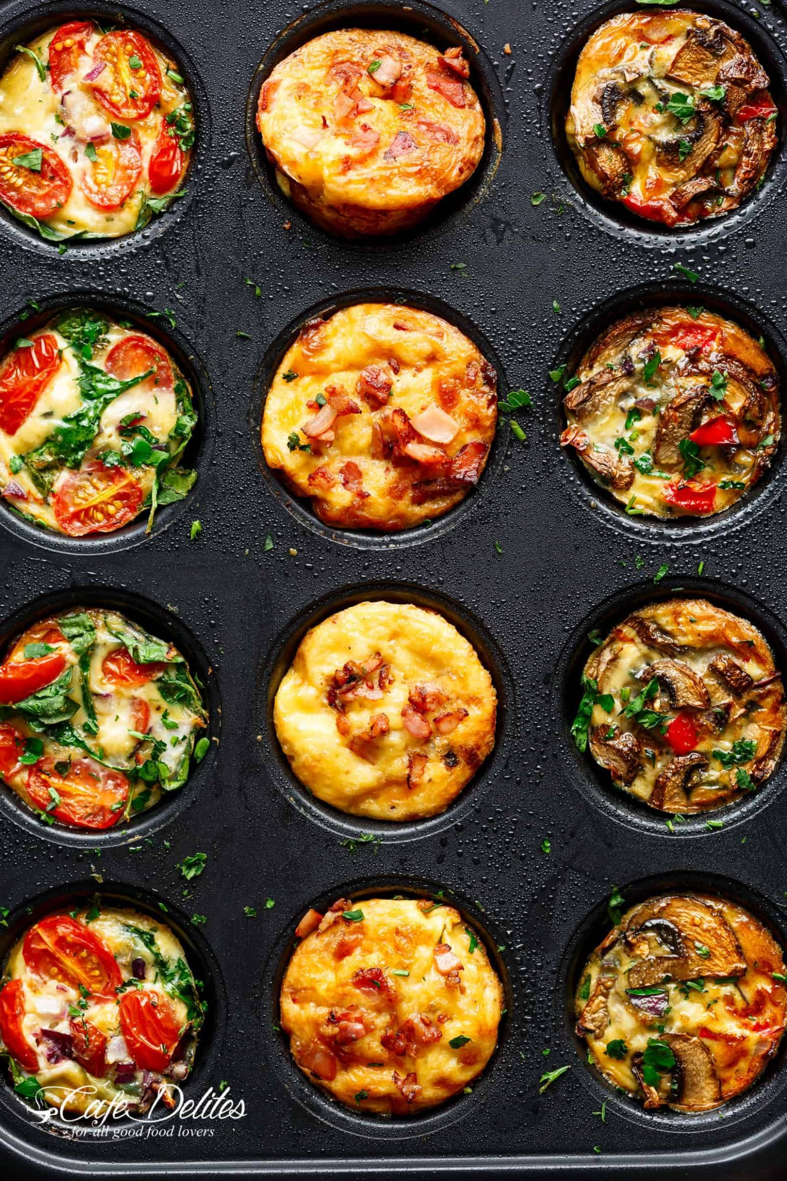 Breakfast Egg Muffins 12 Ways (Meal Prep) - Cafe Delites - Recipes Egg Muffin Cups