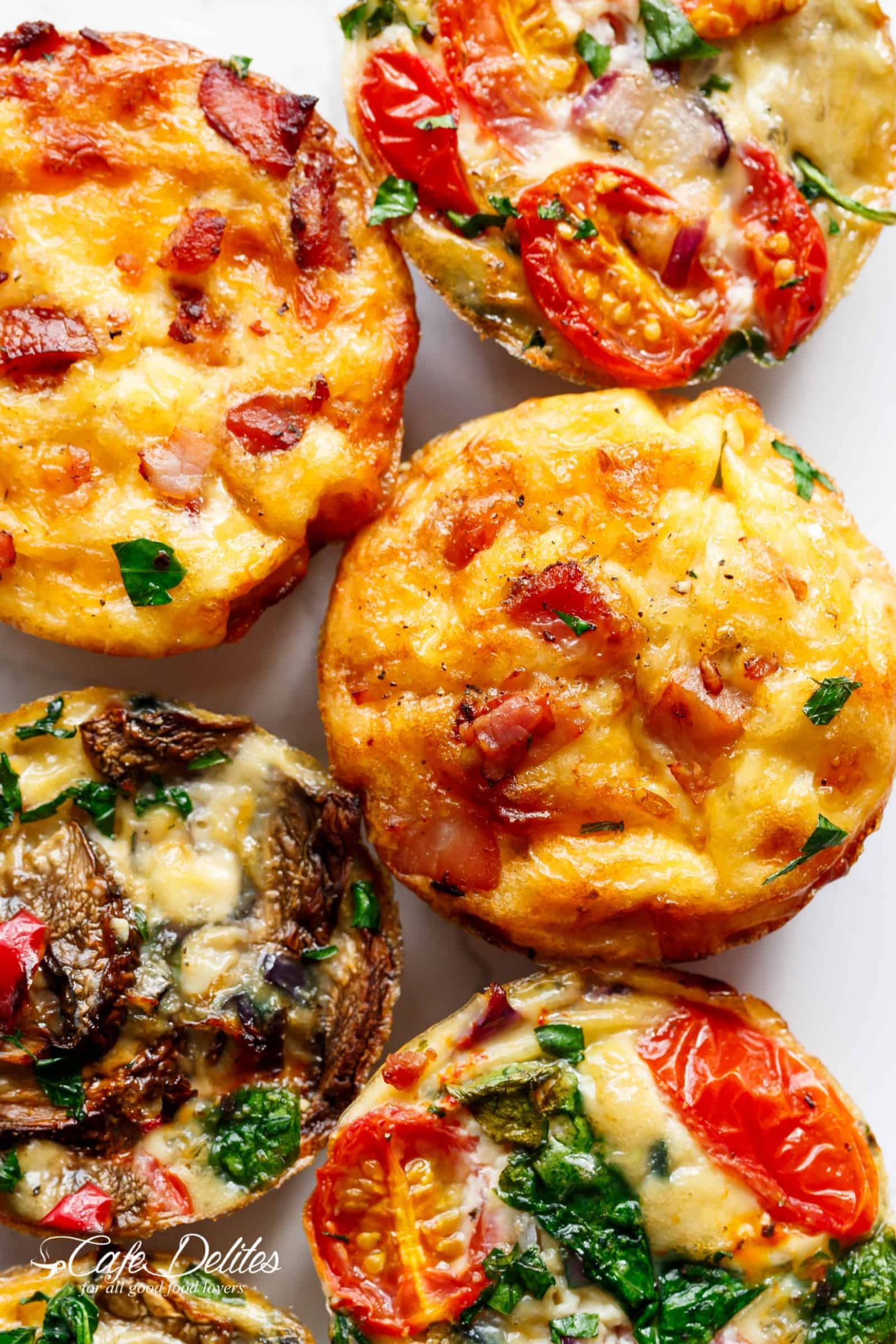 Breakfast Egg Muffins 9 Ways - Recipes Egg Cups