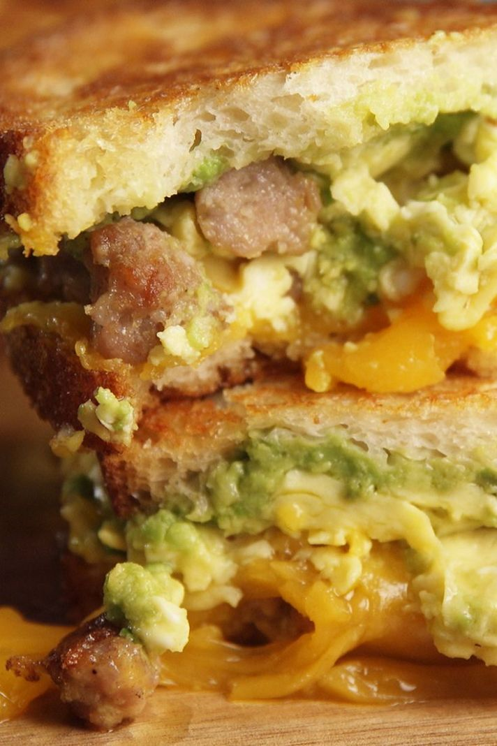 Breakfast Grilled Cheese - Sandwich Recipes Delish