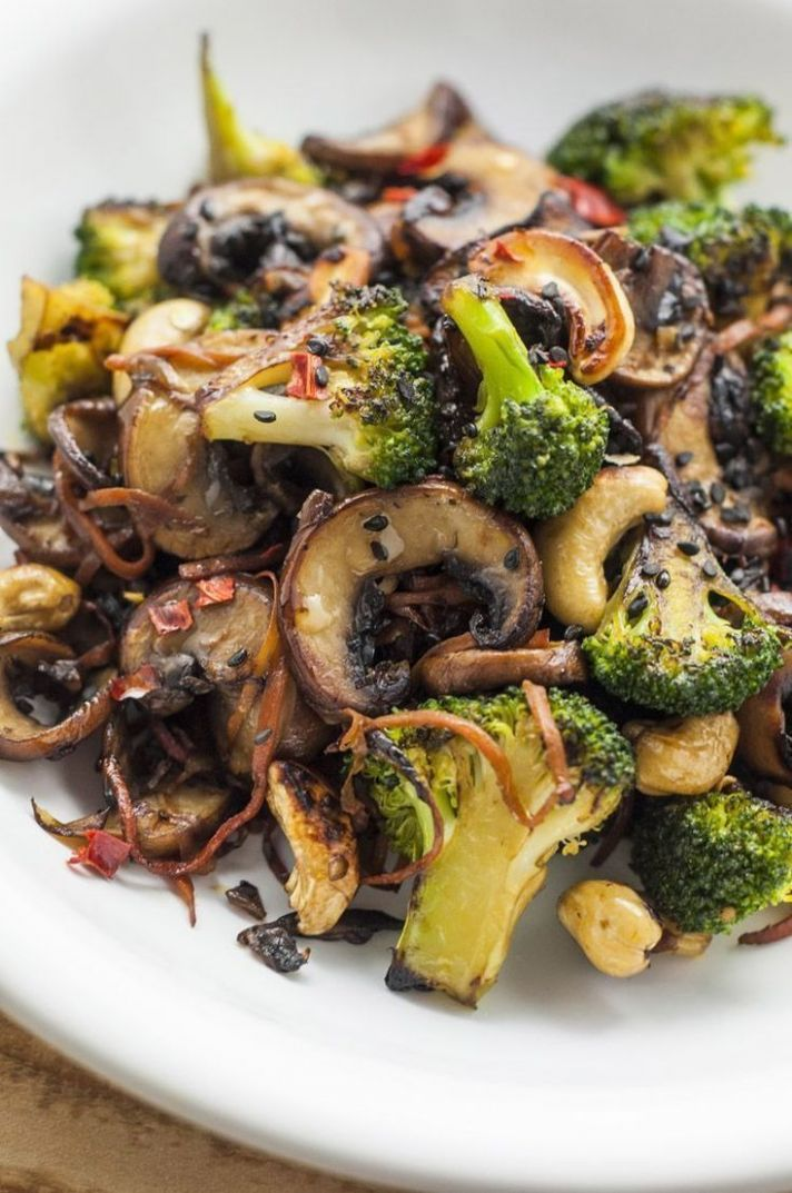 Broccoli and Mushroom Stir-Fry | Healthy Stir-Fry Recipes - Vegetable Recipes Easy Healthy