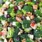 Broccoli Salad With Apples, Walnuts, And Cranberries – Salad Recipes You Can Make Ahead