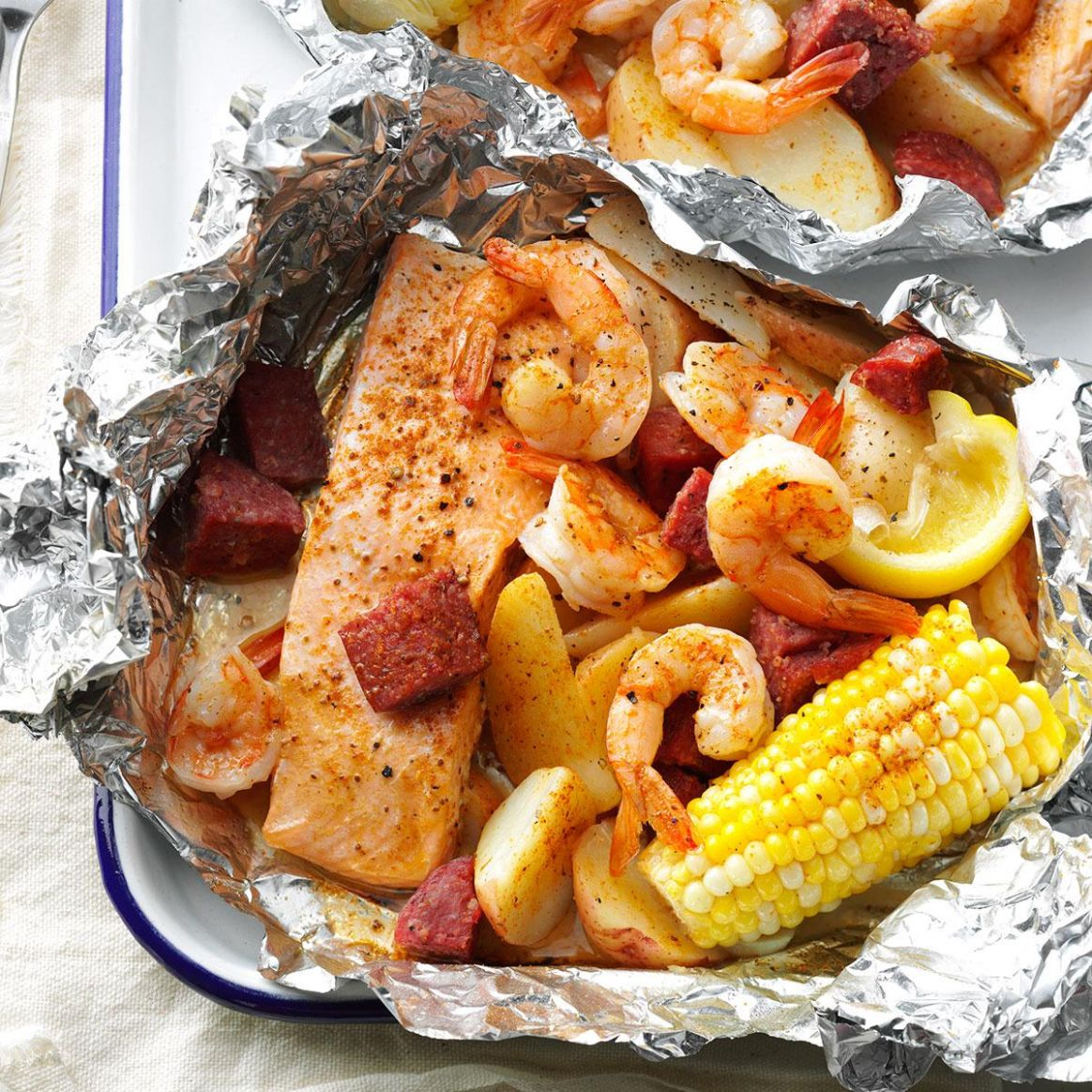 Cajun Boil on the Grill - Dinner Recipes Grill