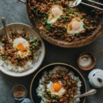 Cantonese Ground Beef Rice And Eggs (窝蛋牛肉) | Omnivore's Cookbook – Recipe Egg Ground Beef