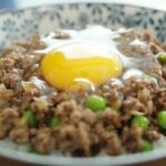 Cantonese Minced Beef With Egg Over Rice – 窩蛋牛肉 – Recipes Rice Beef Mince