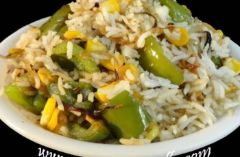 Capsicum & Sweet Corn Rice - Indian Recipes - Andhra Telugu ...