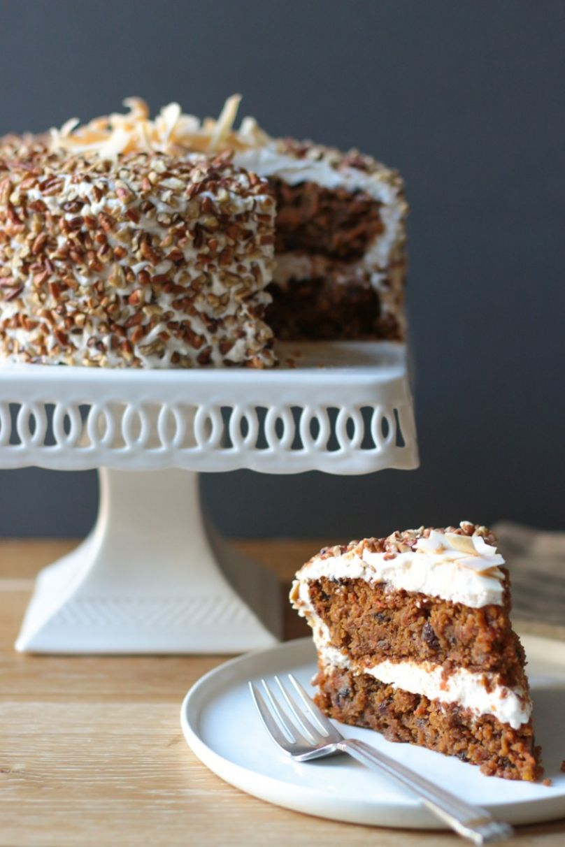 Carrot Cake with Cream Cheese Frosting (gluten free, grain free, soy-free,  vegan) - Cake Recipes Gluten And Dairy Free