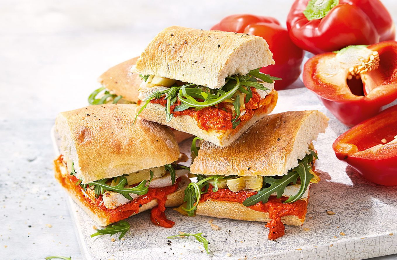 Chargrilled chicken and pepper sandwich - Sandwich Recipes On Ciabatta Bread