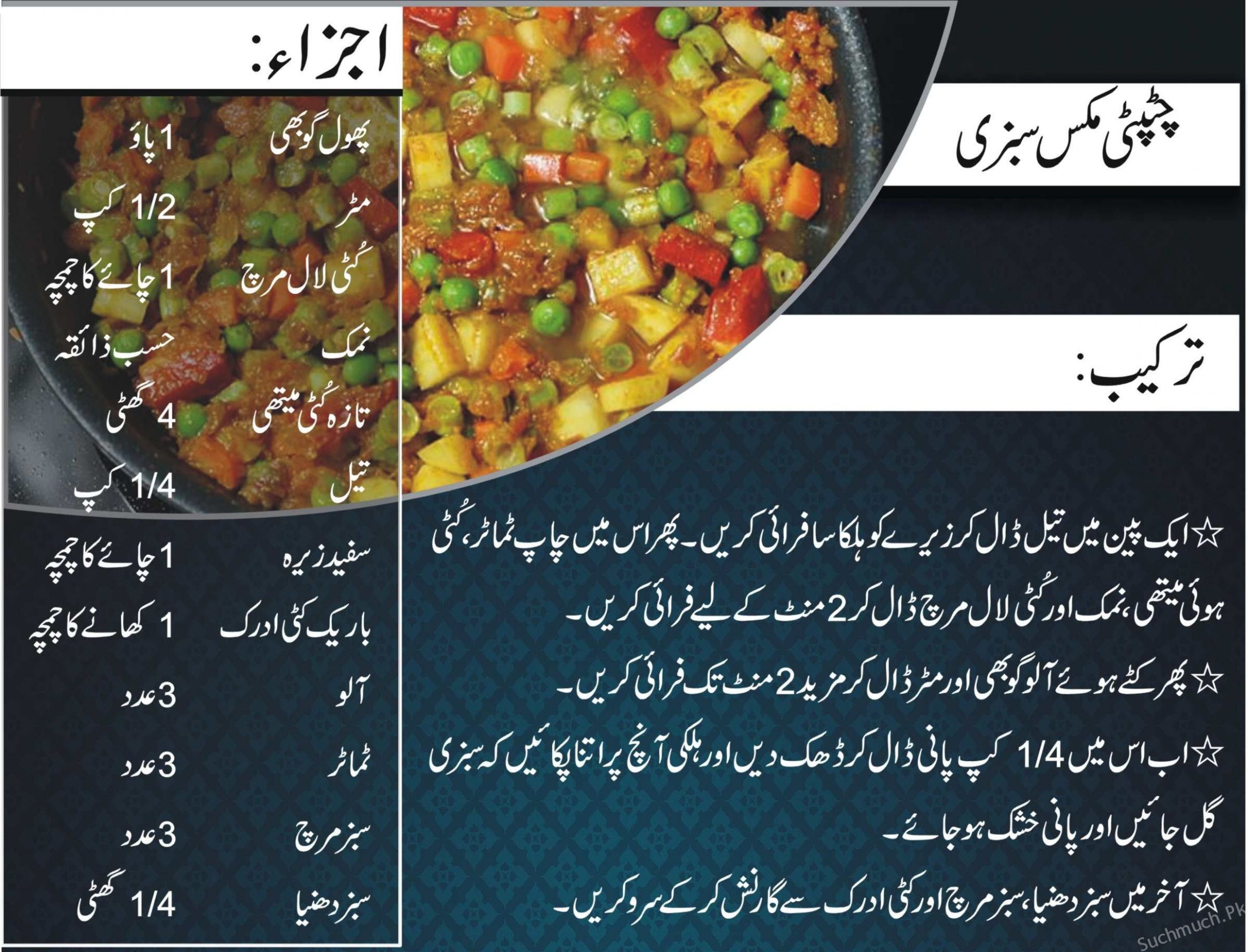 Chat Pati Mix Sabzi Recipe For Ramadan | Sabzi recipe, Recipes ..