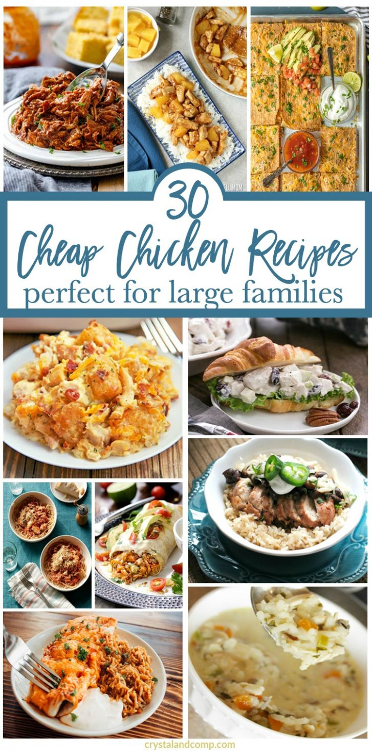 Cheap Chicken Recipes for a Large Family   CrystalandComp