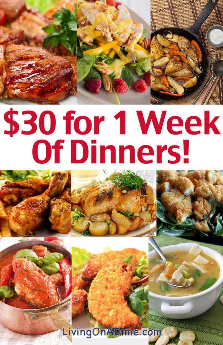 Cheap Family Dinner Ideas - $100 for 10 Week of Dinners! - Living on ..