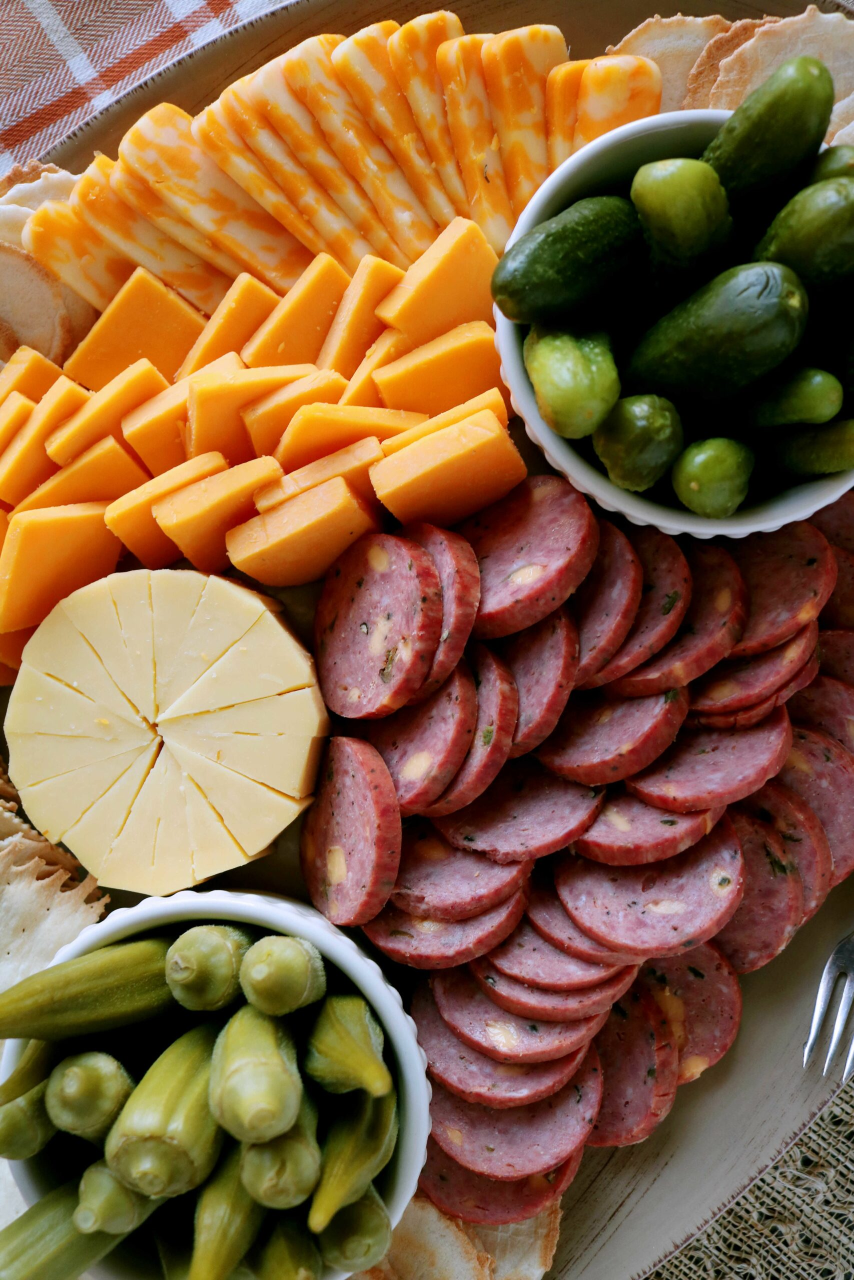 Cheese Platter with Summer Sausage - Recipes Using Summer Sausage