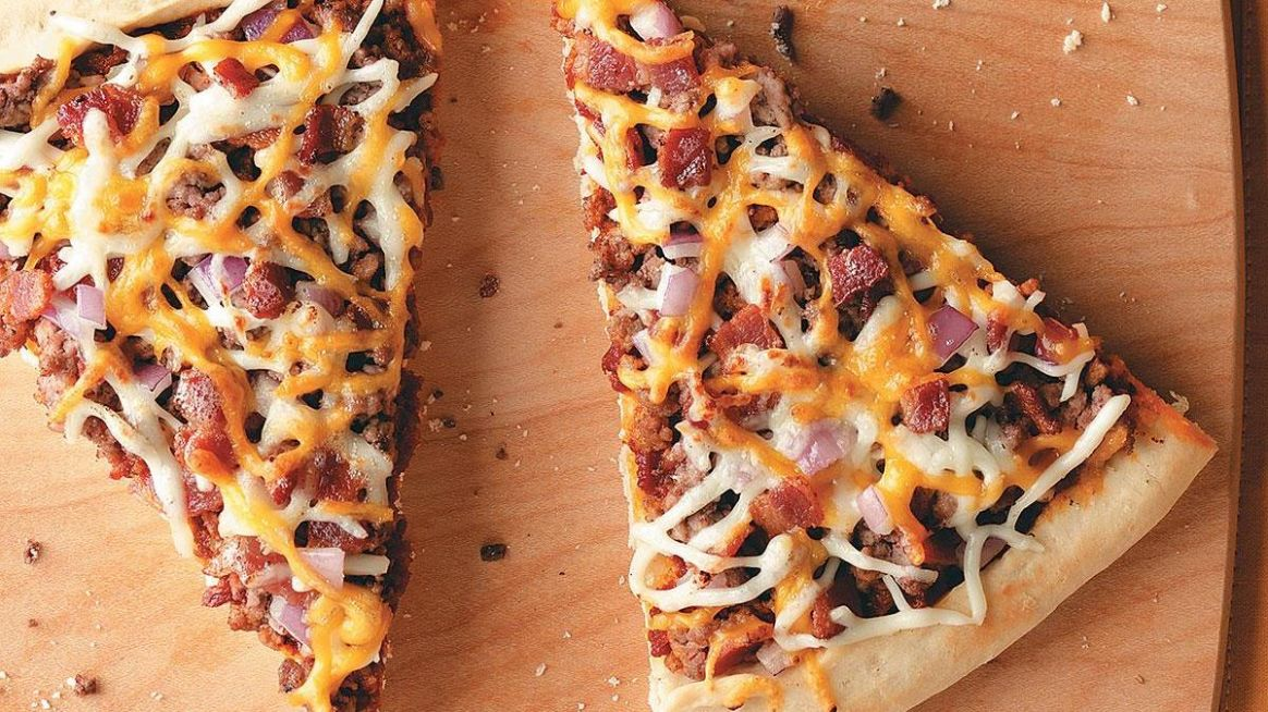 Cheesy Bacon Burger Pizza
