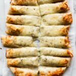 Cheesy Breadsticks Made From Pizza Dough – Recipes Using Pizza Crust