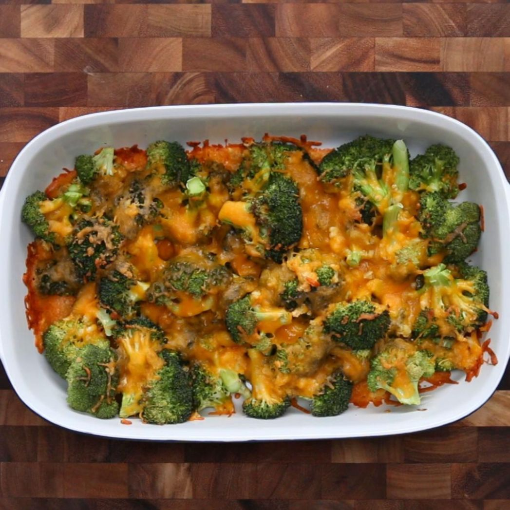 Cheesy Garlic Broccoli Recipe by Tasty - Easy Recipes Tasty