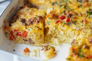 Cheesy Hash Brown Breakfast Casserole