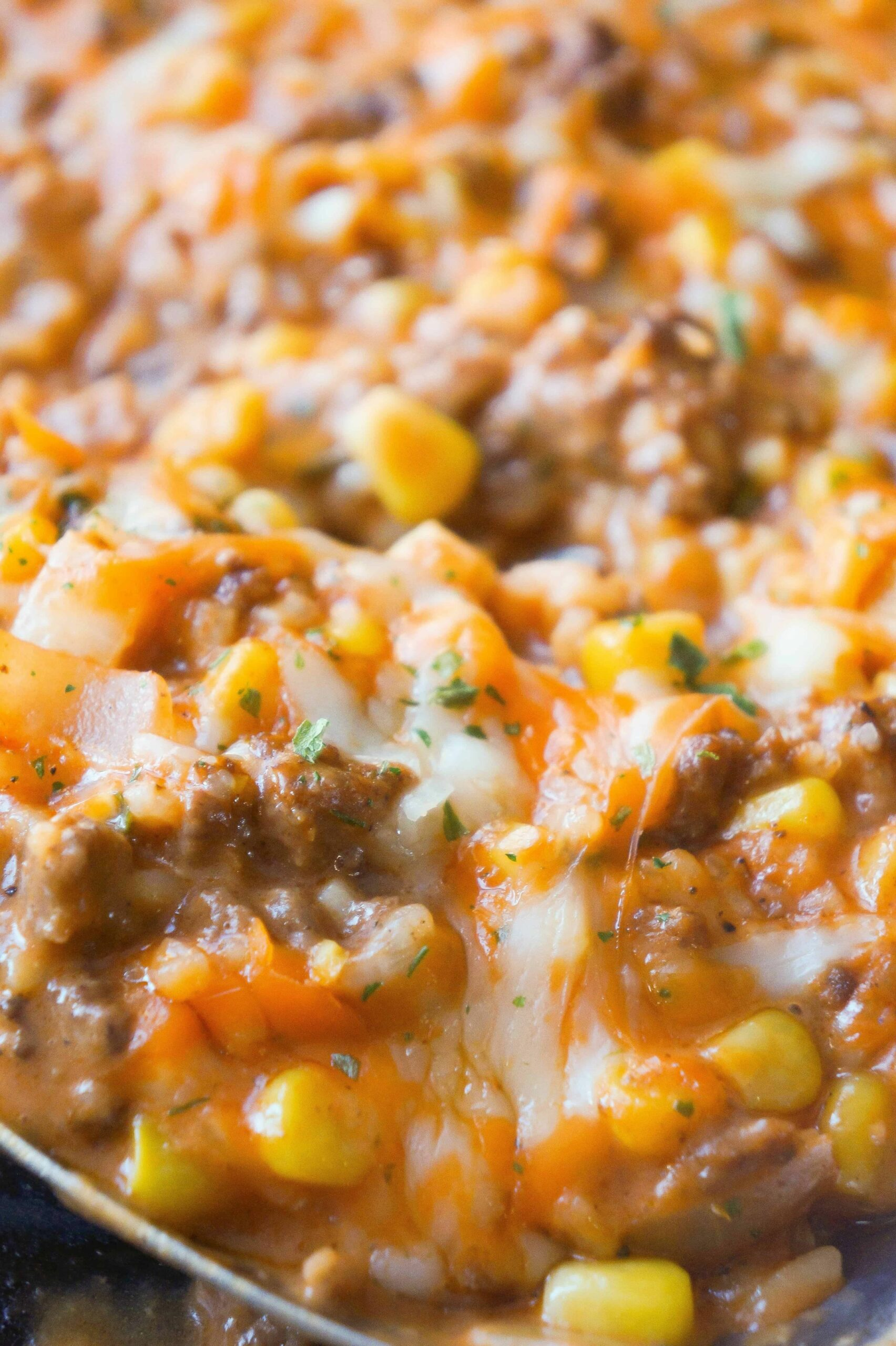 Cheesy Tomato Ground Beef and Rice - This is Not Diet Food - Food Recipes With Ground Beef