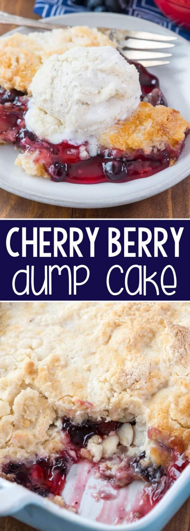 Cherry Berry Dump Cake - Crazy for Crust - Recipes Cake Mix And Pie Filling