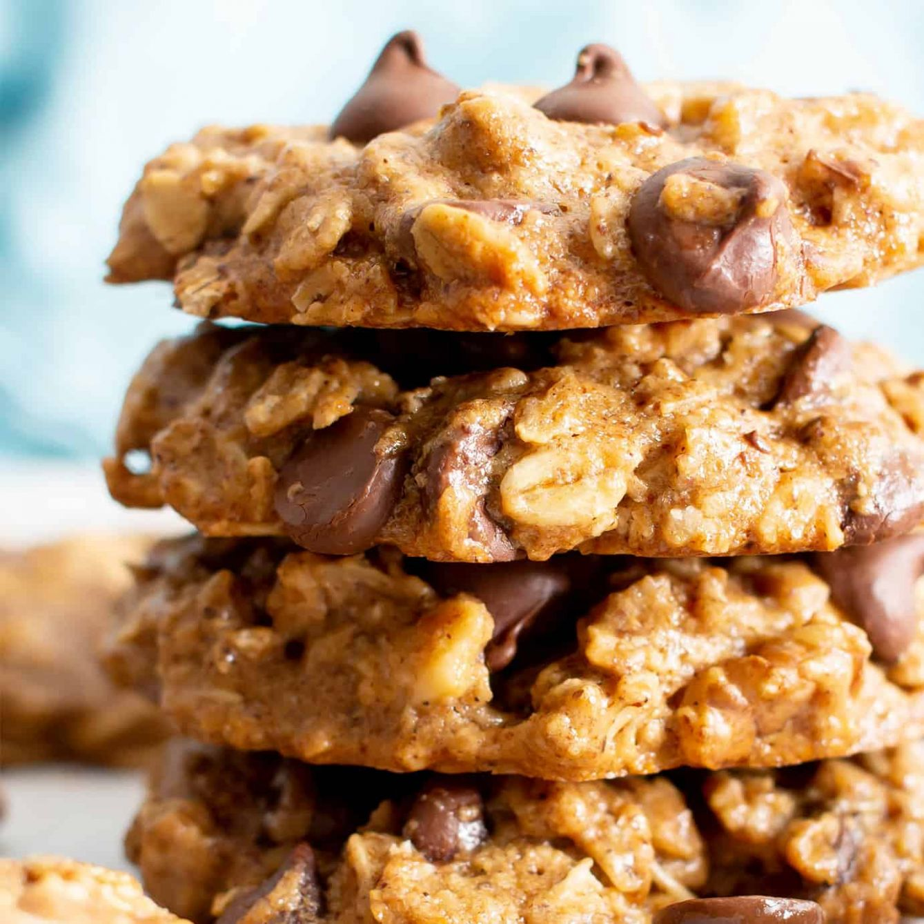 Chewy Healthy Oatmeal Chocolate Chip Cookies (Vegan, Gluten-Free,  Dairy-Free, Refined Sugar-Free) - Healthy Recipes Cookies
