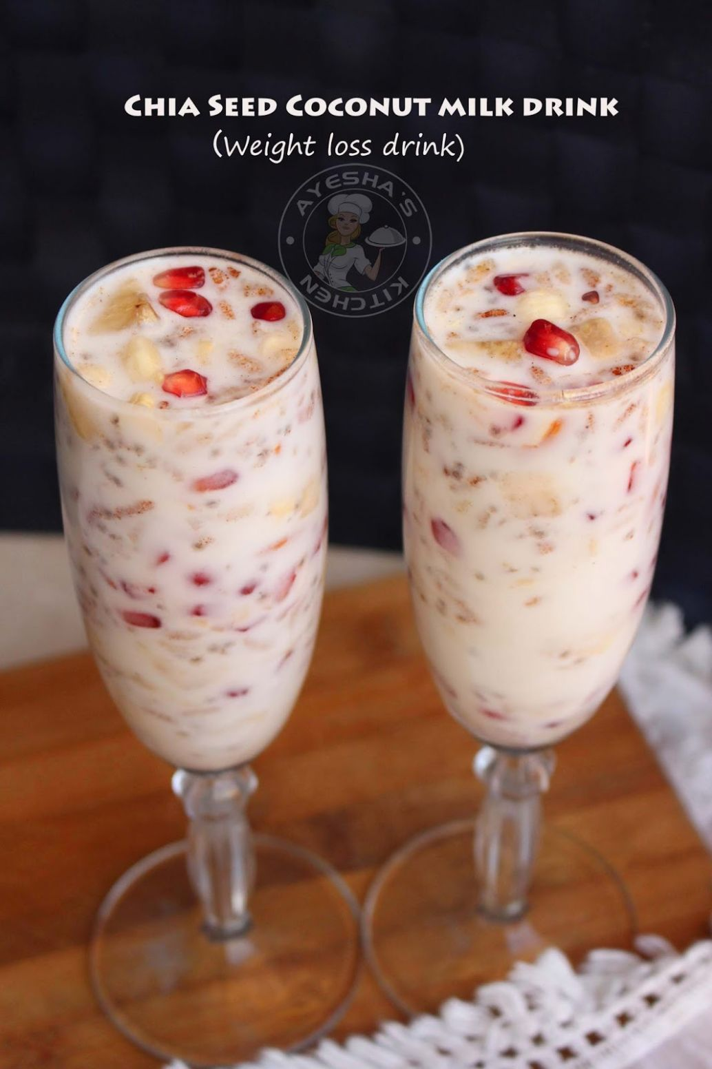 CHIA SEED COCONUT MILK DRINK - WEIGHT LOSS DRINKS - Recipe For Weight Loss Using Chia Seeds