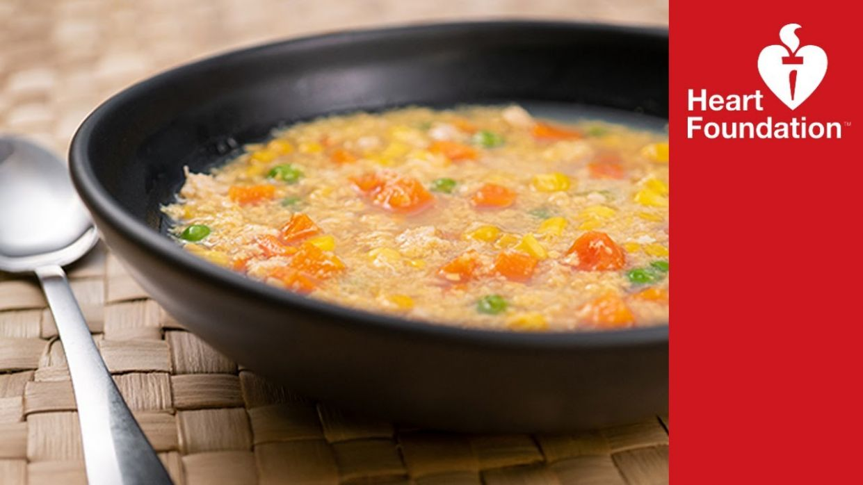 Chicken and corn soup | Healthy recipes | Heart Foundation NZ - Healthy Recipes Heart Foundation