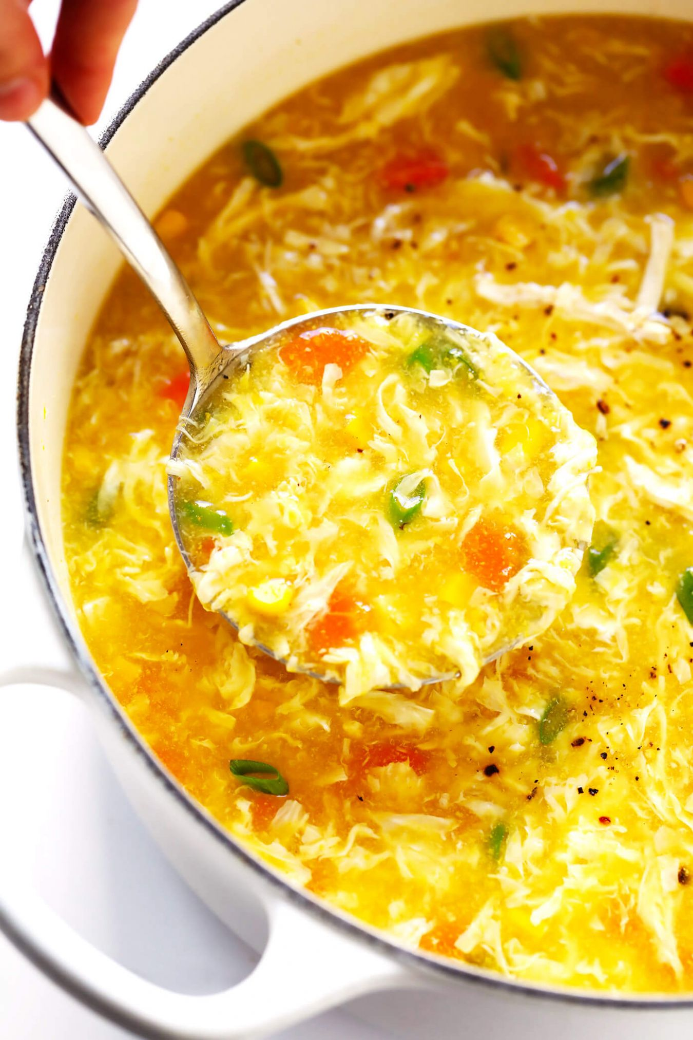Chicken and Sweet Corn Soup - Soup Recipes Using Chicken