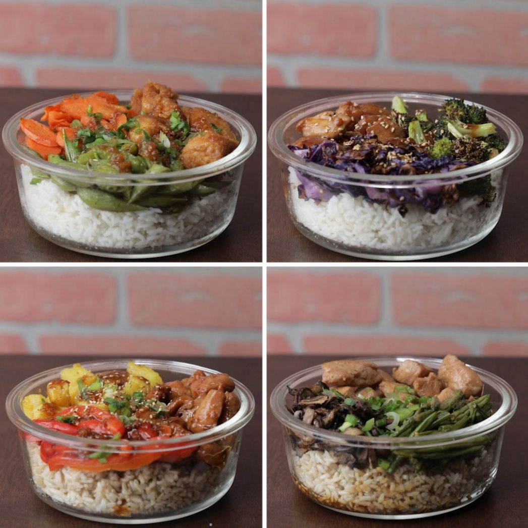 Chicken Bowl Meal Prep 10 Ways | Food, Food recipes, Meals - Recipes Dinner For 4