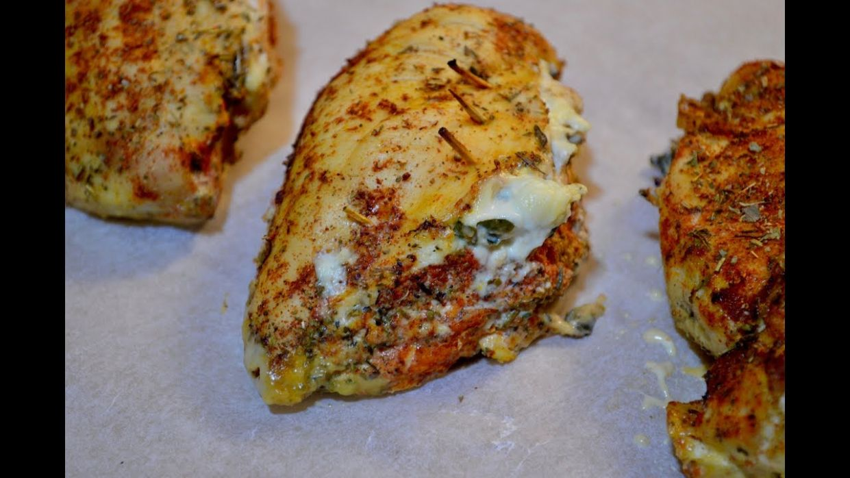 Chicken breast stuffed with spinach and cream cheese - Recipe Chicken Breast You Tube