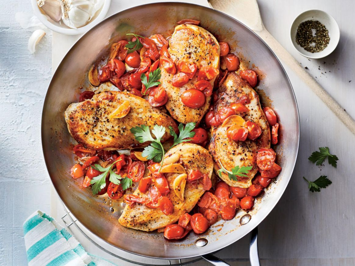 Chicken Breasts with Brown Butter-Garlic Tomato Sauce - Recipes Chicken Breast Tomatoes