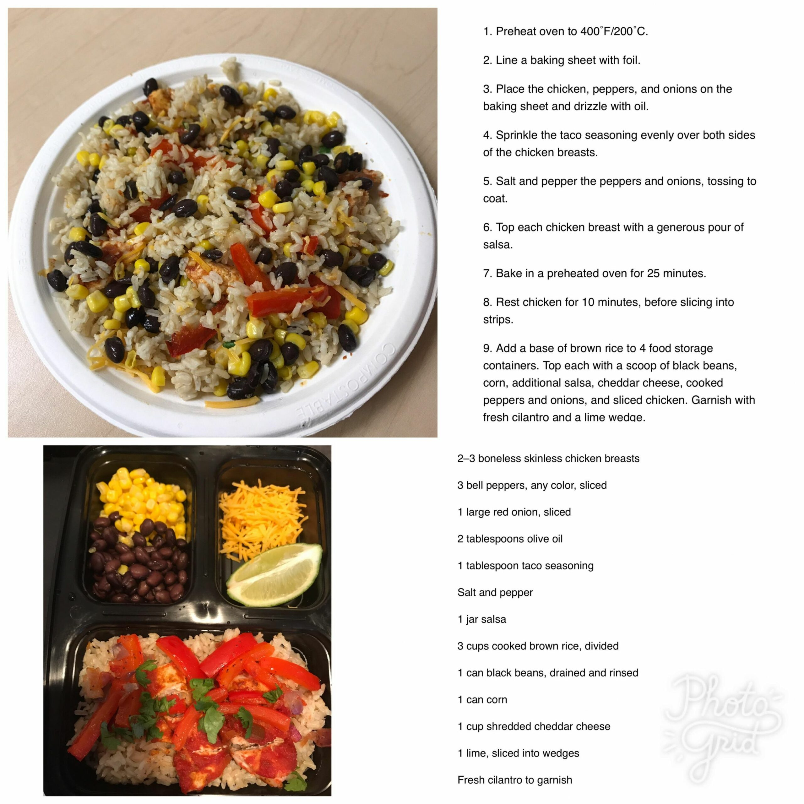Chicken Burrito Bowl. Best meal prep thus far and was so easy to ..
