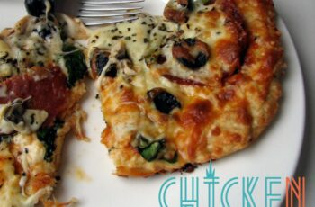 Chicken Crust Pizza. A successful experiment. |