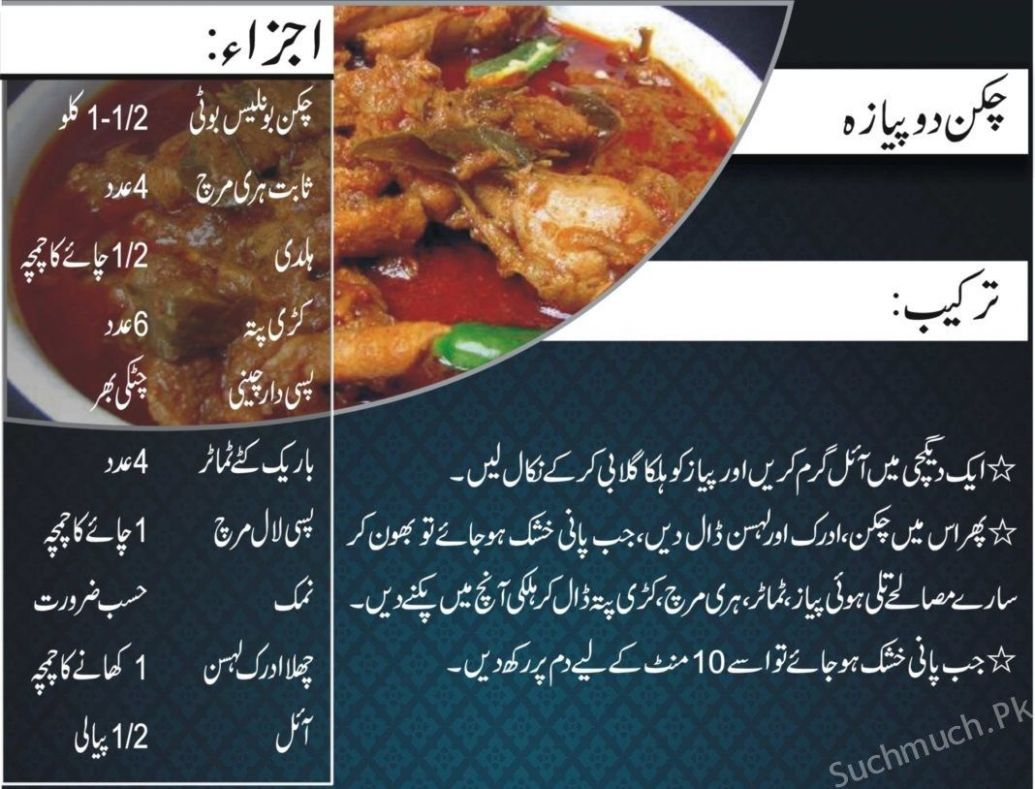 Chicken Do Pyaza Recipe | Recipes, Ramadan recipes, Onion recipes - Pakistani Recipes Urdu Video