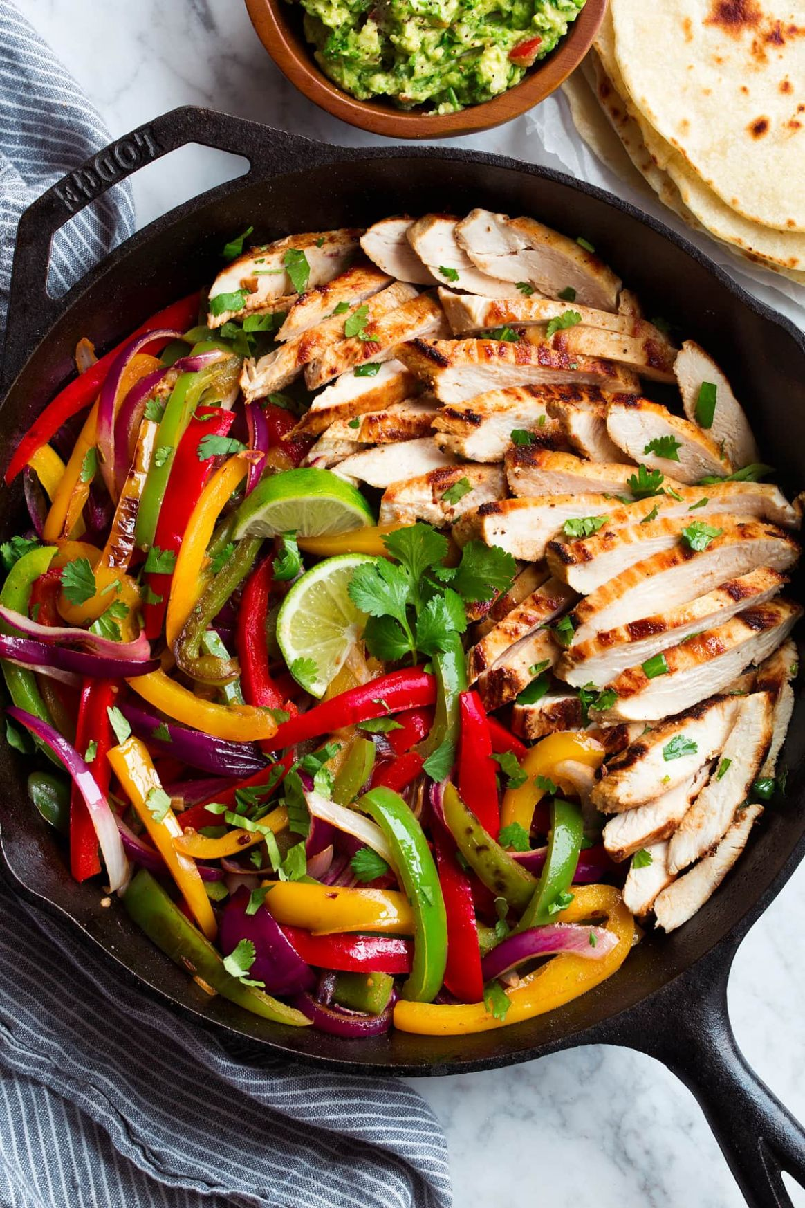 Chicken Fajitas - Cooking Classy - Recipes Chicken Breast Bell Peppers Onions