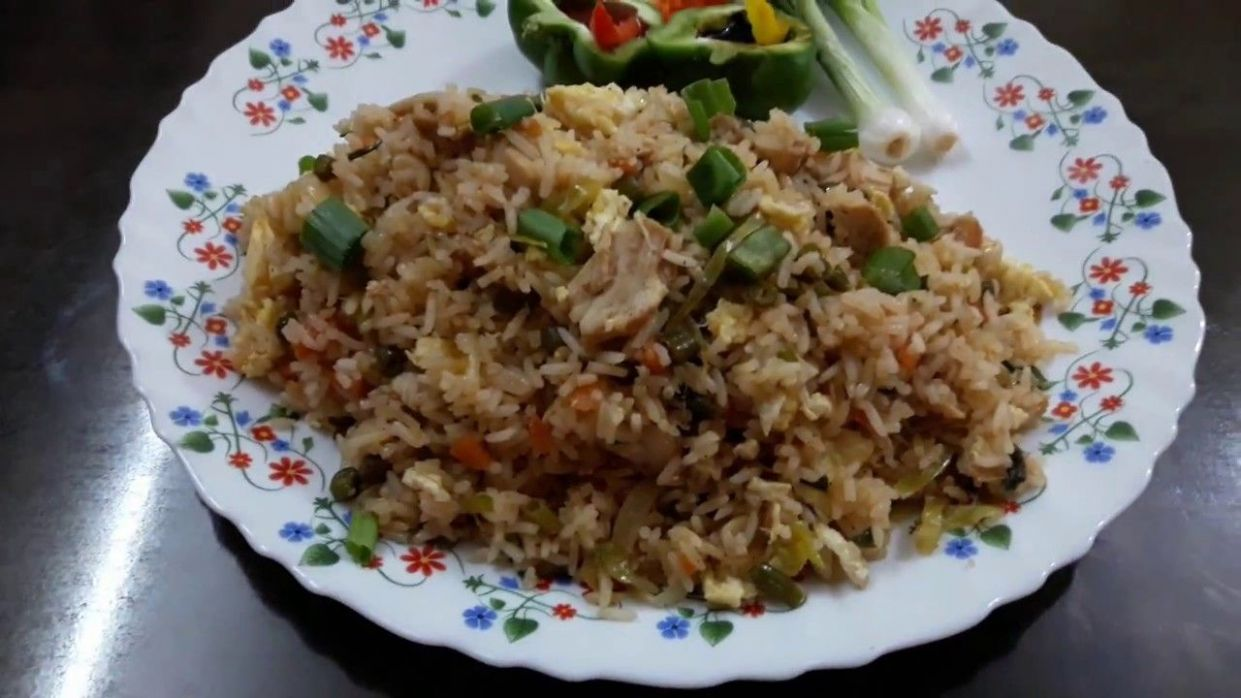 Chicken Fried Rice Recipe in English and Marathi Language with ..