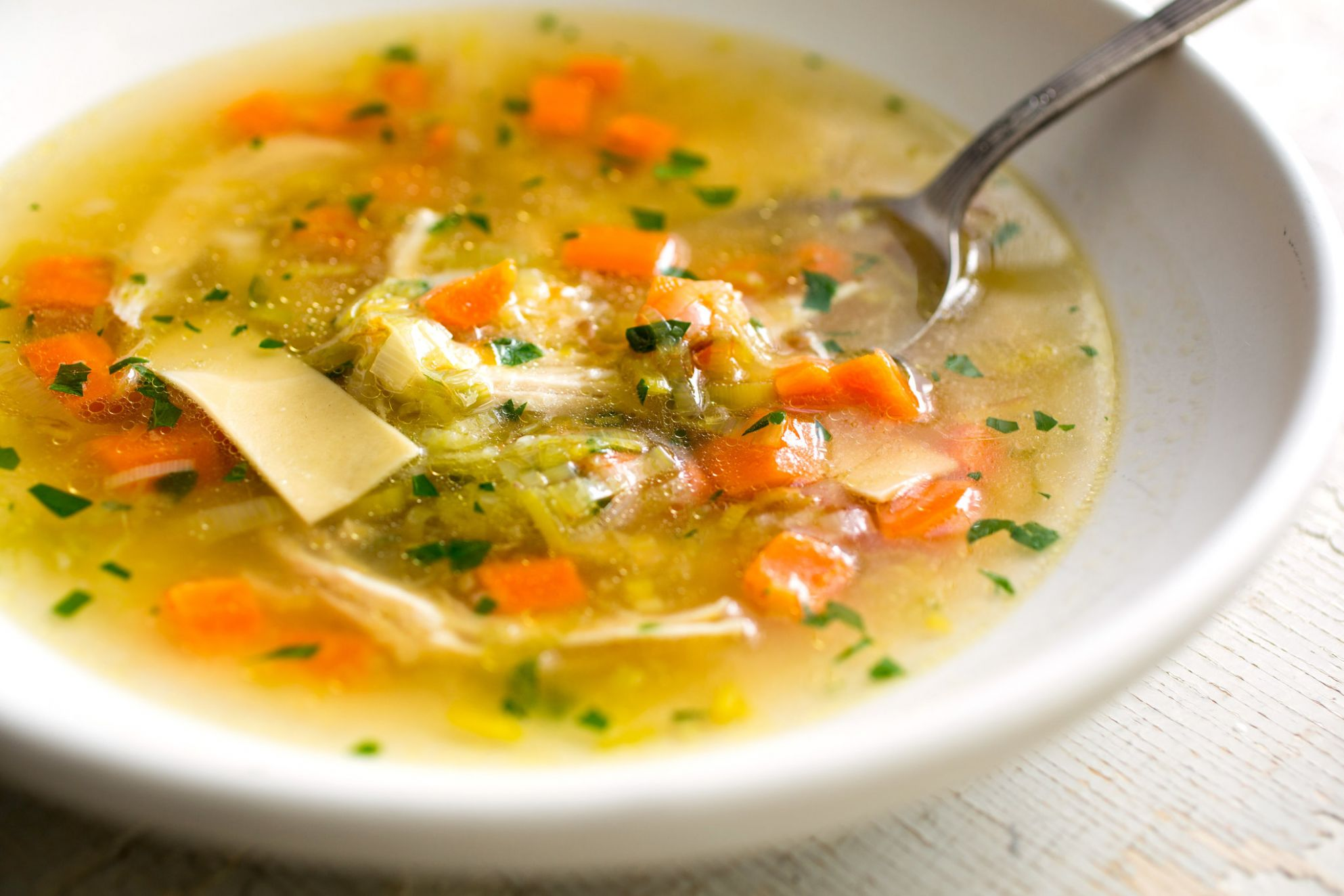 Chicken Noodle Soup - Soup Recipes Using Chicken Stock