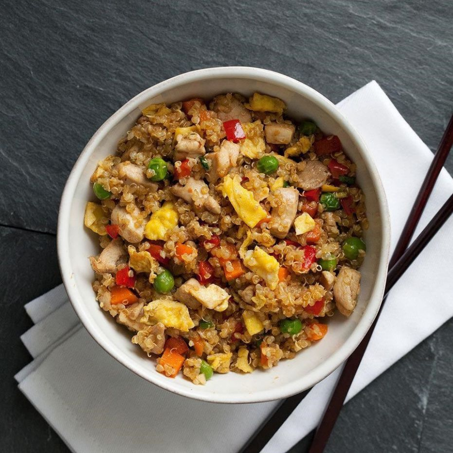 Chicken Quinoa Fried Rice - Salad Recipes With Quinoa And Chicken