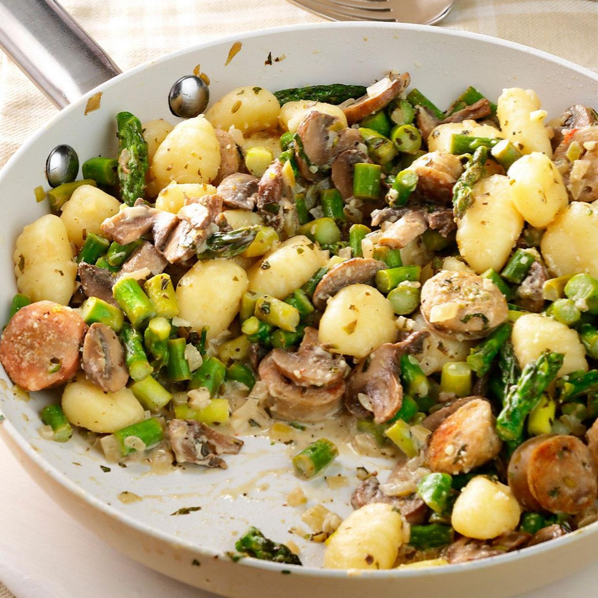 Chicken Sausage & Gnocchi Skillet - Recipes Chicken Sausage
