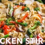 Chicken Stir Fry With Rice Noodles (10 Minute Meal) – Recipes Rice Noodles Chicken