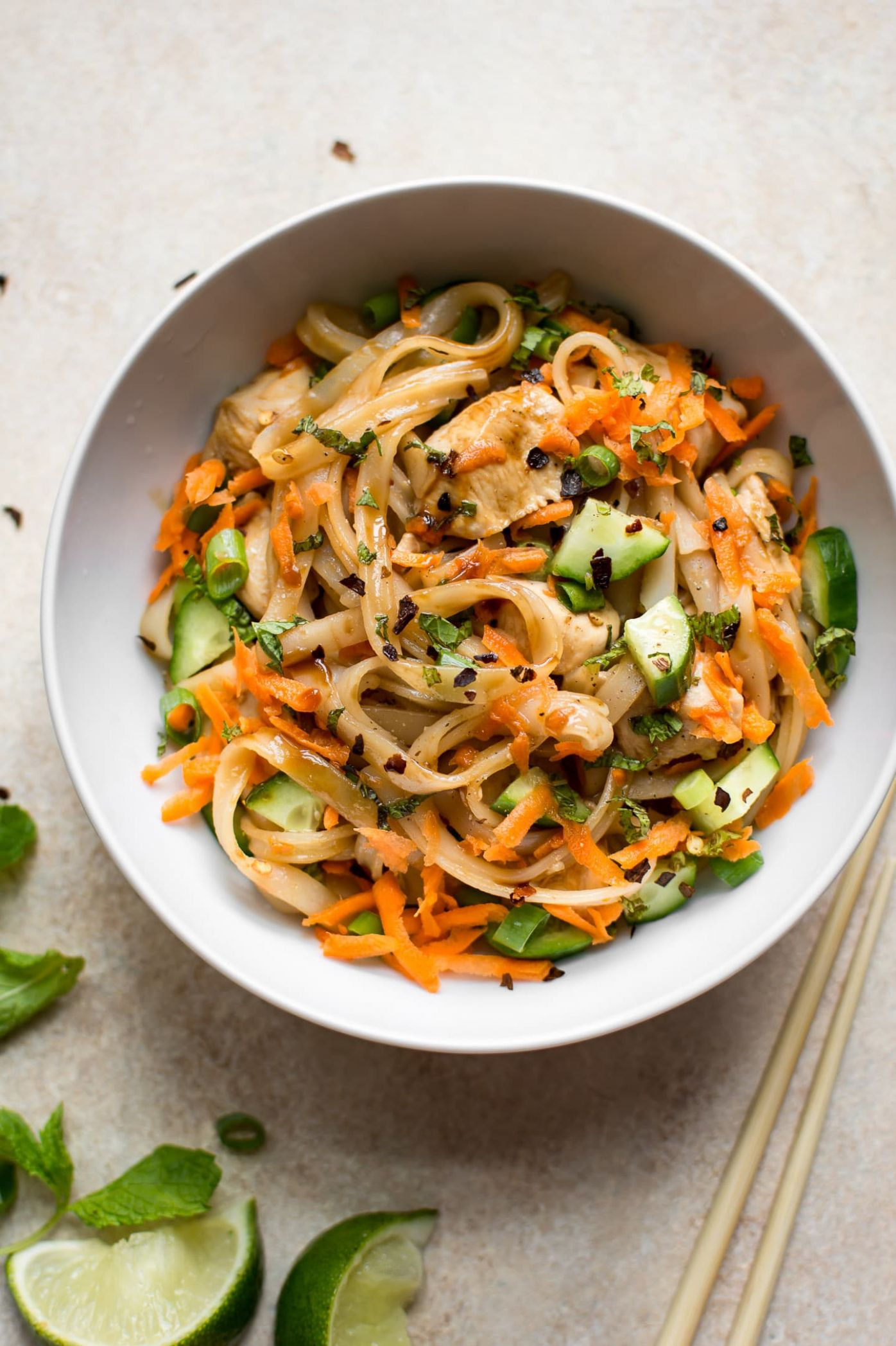 Chicken Stir Fry with Rice Noodles - Recipes Rice Noodles Chicken