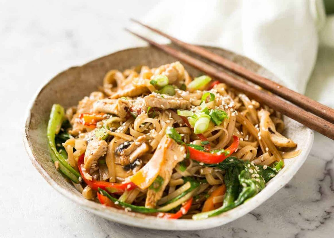 Chicken Stir Fry with Rice Noodles | RecipeTin Eats - Recipes Rice Noodles Chicken