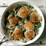 Chicken Thighs With Shallots & Spinach – Dinner Recipes Chicken Thighs