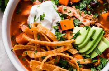 chicken tortilla soup with sweet potatoes (& beer!!)