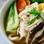 Chicken Udon Soup With Bok Choy – Recipe Chicken Udon Noodles