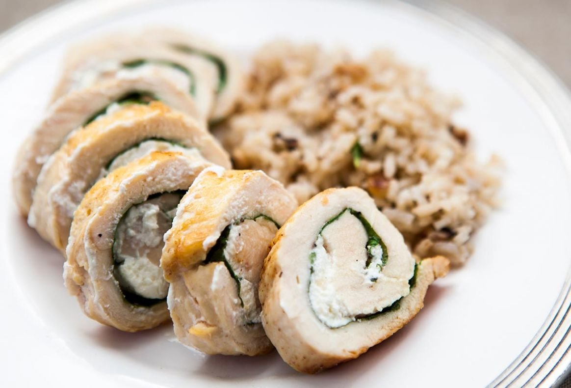 Chicken with Goat Cheese and Arugula - Recipe Chicken Breast Goat Cheese