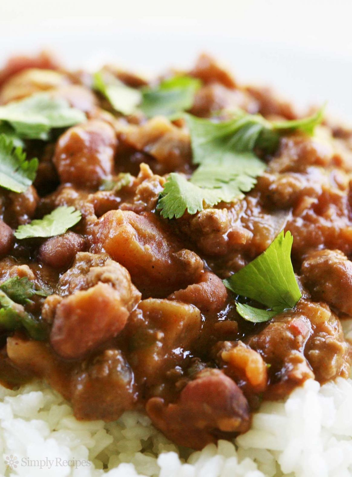 Chili Beans with Rice - Recipes Over Rice
