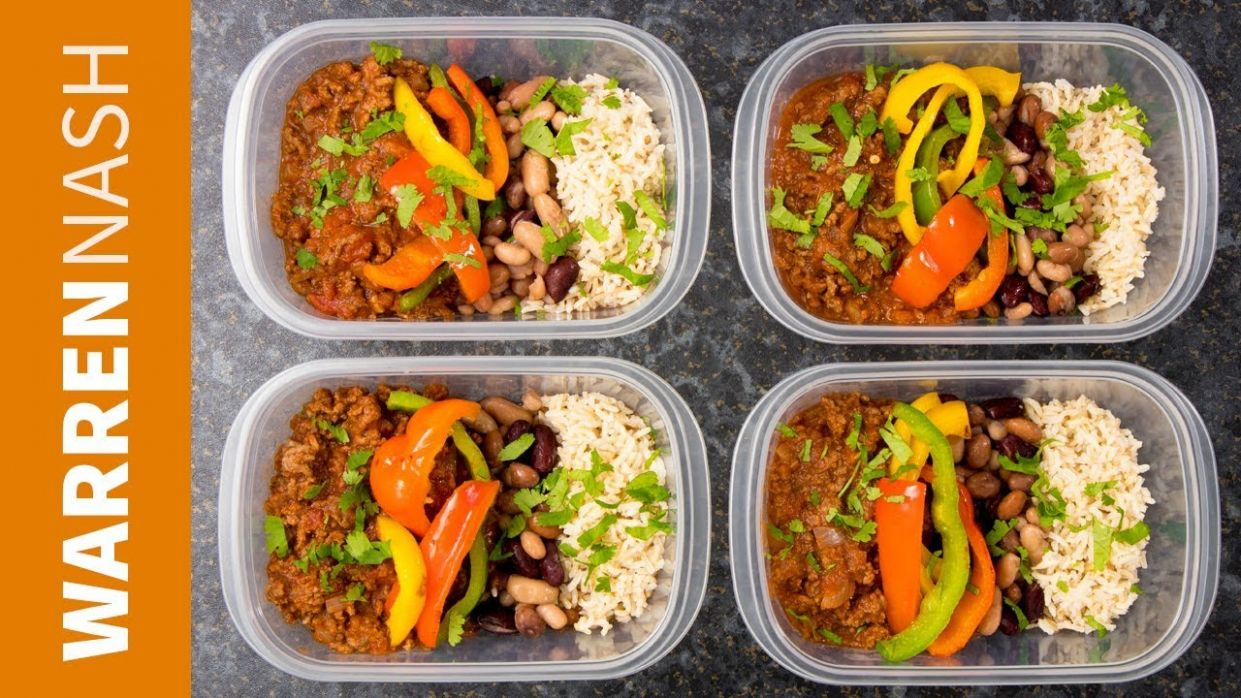 Chilli Beef Meal Prep Recipe - High Protein with Lean Ground Beef - Recipes  by Warren Nash - Weight Loss Recipes Ground Beef