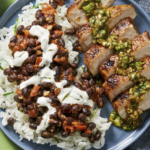 Chimichurri Pork Chops And Buttery Black Beans Over Rice – Recipes Over Rice