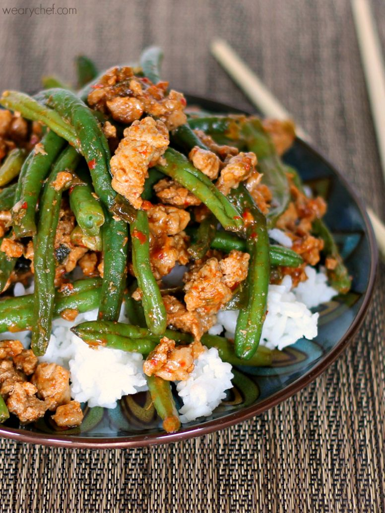 Chinese Green Beans with Ground Turkey - Healthy Recipes Using Ground Turkey