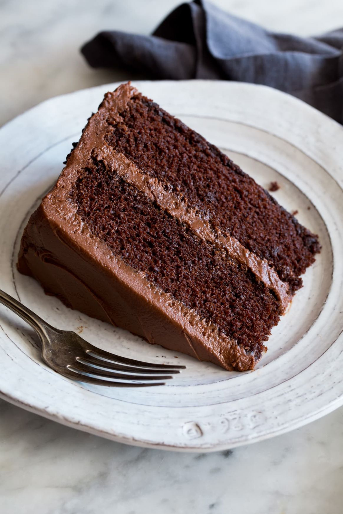 Chocolate Cake with Chocolate Buttercream Frosting - Recipes Chocolate Cake Homemade
